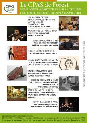 Affiche activités culturelles Oct 2019