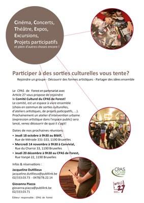 Affiche Comité Culturel A3