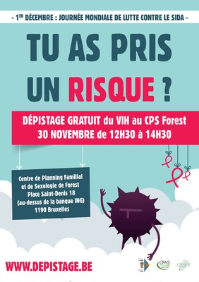 affiche depistage.be forest