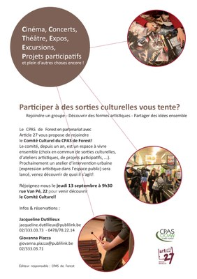 Comité Culturel 13 septembre Flyers