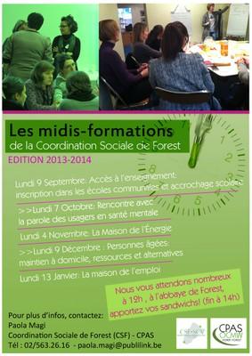 Midi Formation 2013 2ème semestre