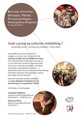 Culturelle Ontdekking 13 septembre
